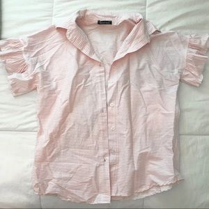 Pink Striped Button Up